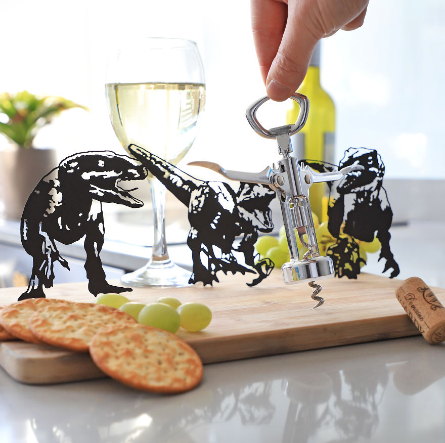 Velociraptors Interrupting Cheese & Wine Evening