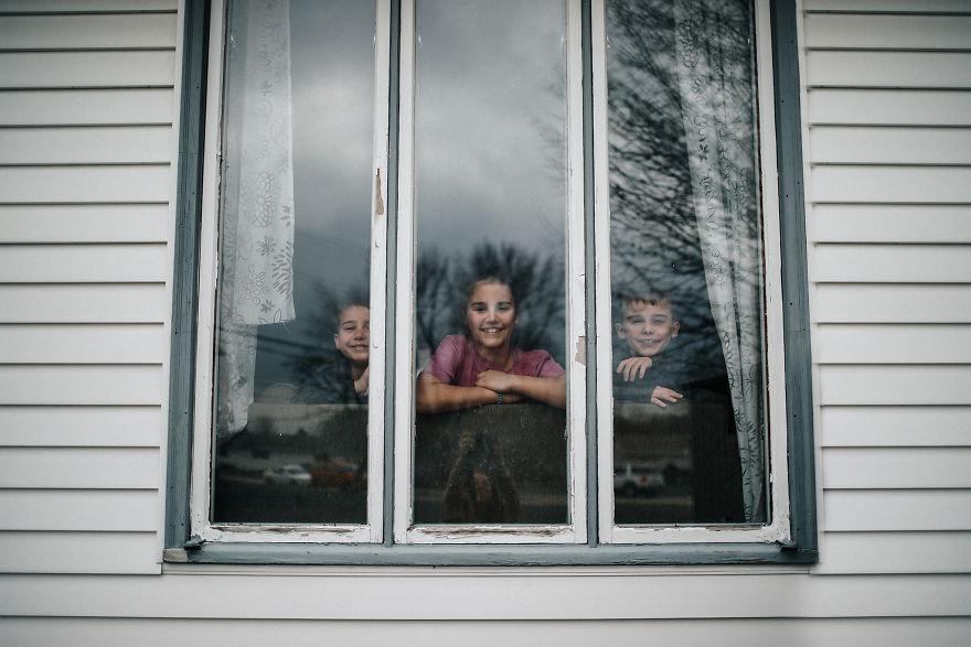 Kids Inside Home During The Worldwide Quarantine