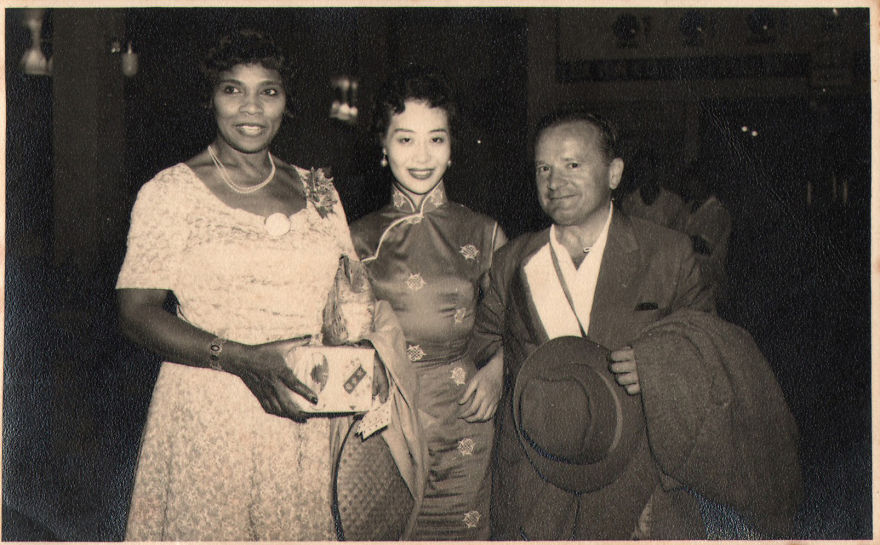 With Marian Anderson