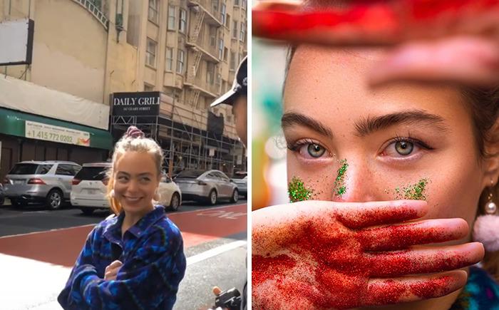 O fotógrafo está ganhando na Internet fazendo sessões de fotos com estranhos