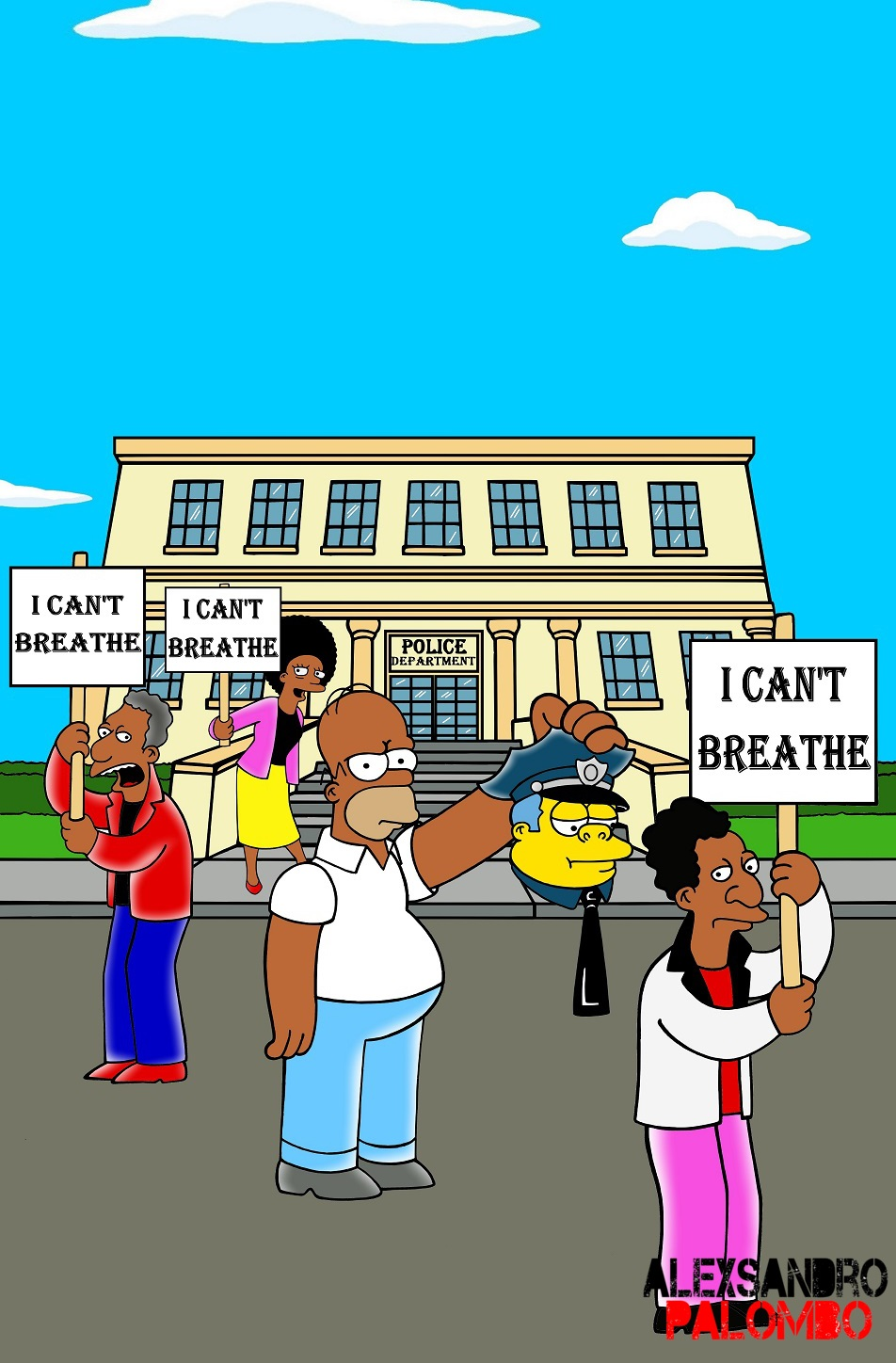 """The Simpsons Black """"I Can't Breathe"""" Never Ending Racism"""