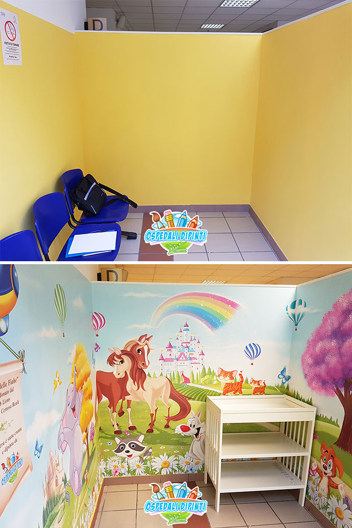 This Italian Painter Turns The Hospital's Walls Into An Enchanted Kingdom To Help Children Deal With Their Fears