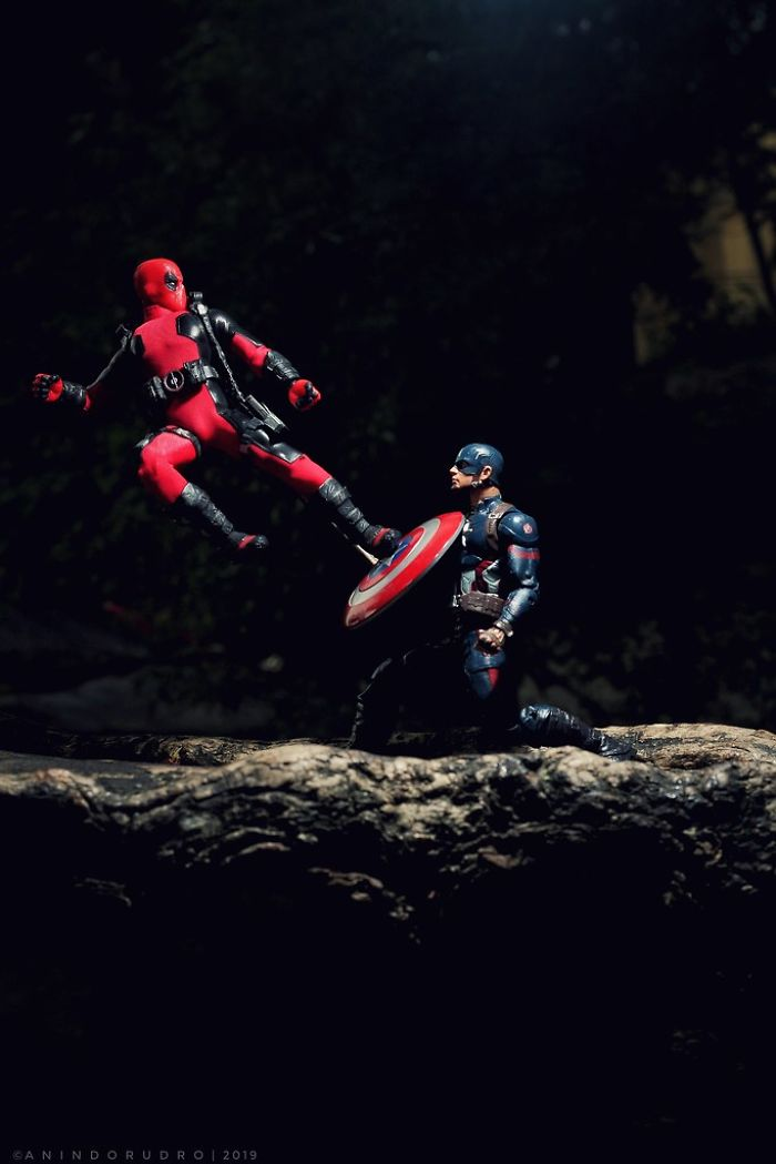 My 22 Miniature Action Scenes With Superhero Toys From DC And Marvel