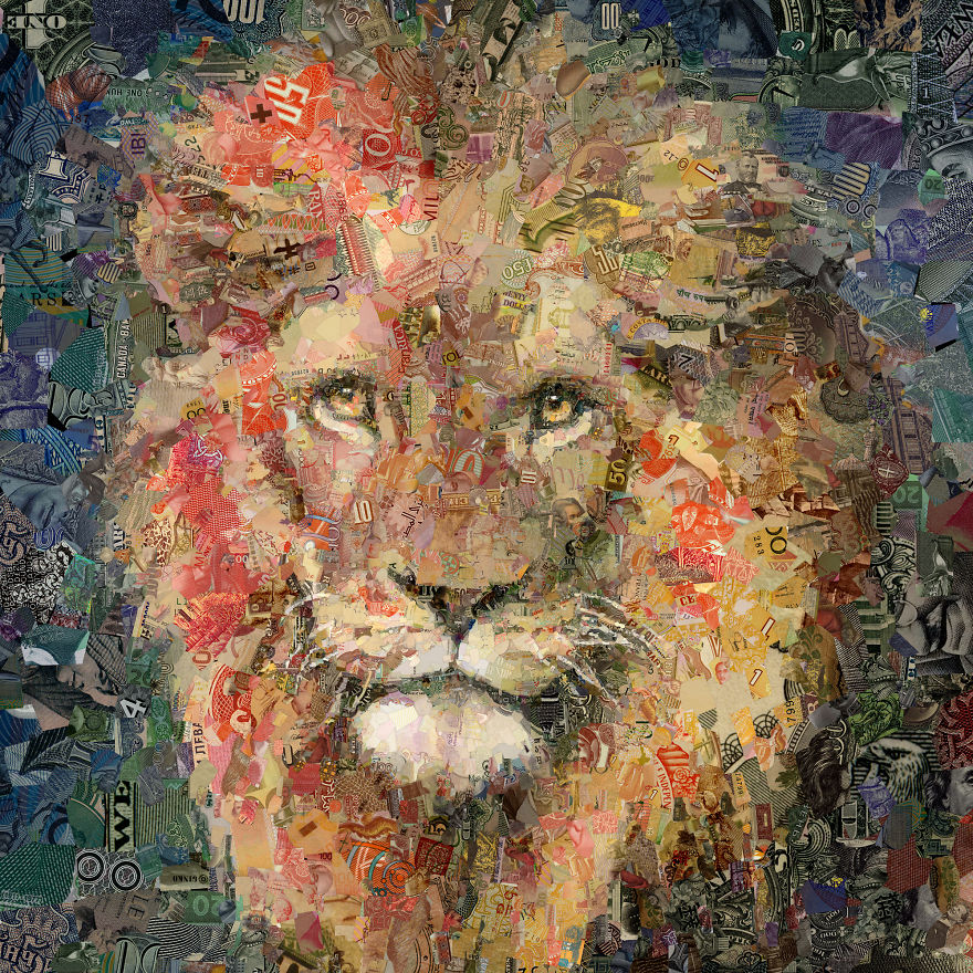 My 12 Wild Animals Made Out Of Banknotes From All Over The World