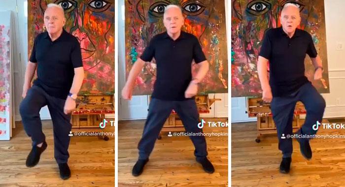 82-Year-Old Anthony Hopkins Nails 'Tootsie Slide' Tiktok Challenge