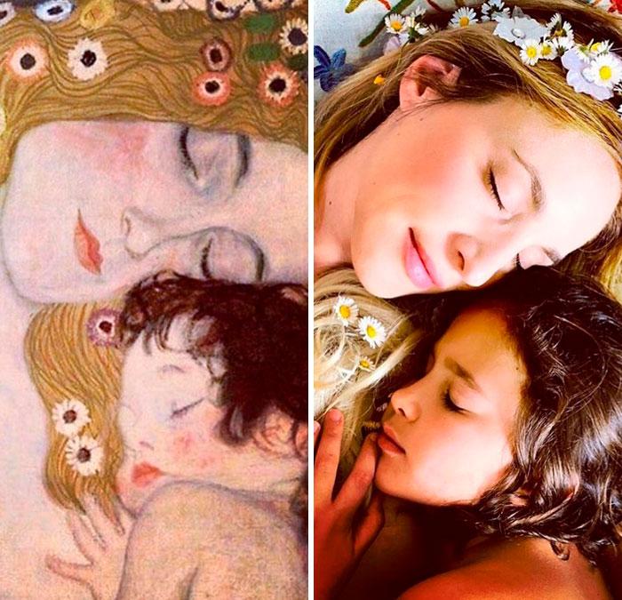 "Gustav Klimt ""Mother And Child"""