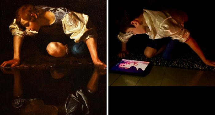 Selfie By Narcissus - Caravage