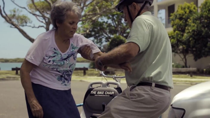 Husband Builds A Special Bike So He Can Continue Cycling With His Wife With Alzheimer's And It's Heartwarming