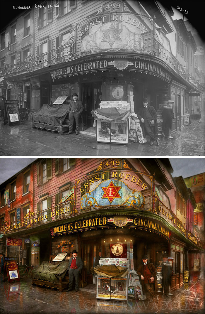 Ernest Roeber's Cafe, 1908