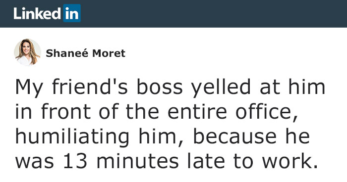 Boss Yells At Employee For Being Late Without Even Asking For A Reason, Ends Up Losing A Loyal Employee Due To His Poor Leadership