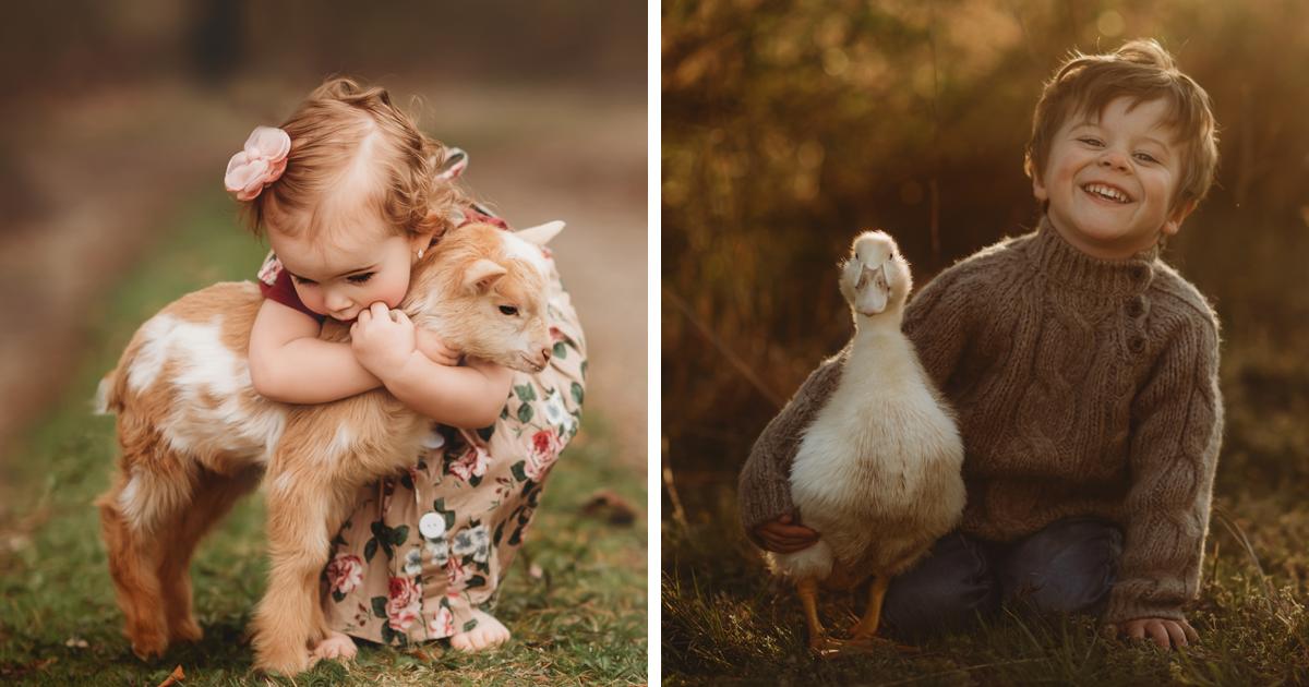 I Capture The Magical Bond Between Children And Animals (63 Pics)