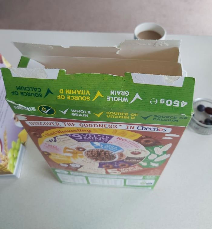 """""""It's Only Taken Me 40 Years"""": Woman Is Left Stunned Upon Finding Out How To Close A Cereal Box The Right Way"""