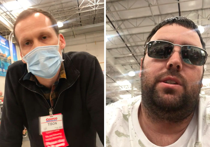 Idiot Films Costco Employee Kicking Him Out For Not Wearing A Mask, People Are On The Employee's Side