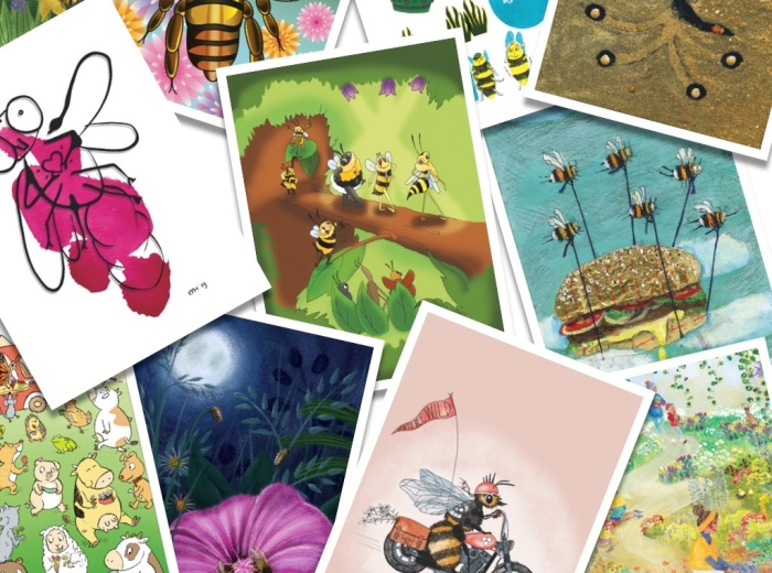 40 Illustrators Buzz Together To Help Bees