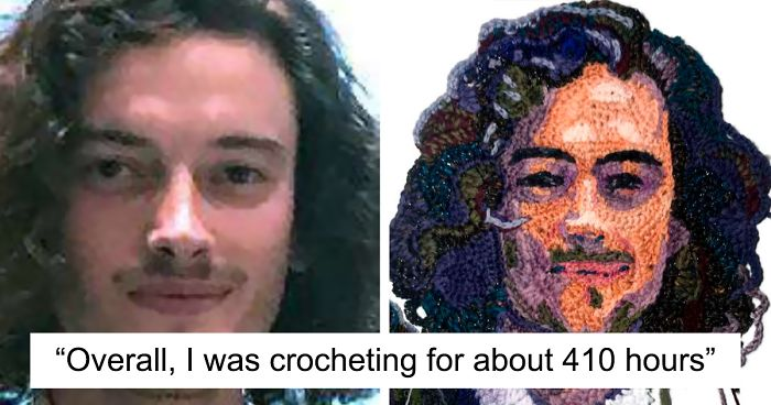 I Asked People To Send Me Their Photos And Crocheted Their Portraits (33 Pics)