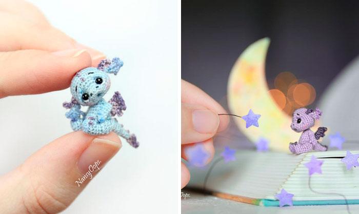 Puedes pasar la cuarentena haciendo diminutos dragones de ganchillo que quedarán adorables en tu escritorio