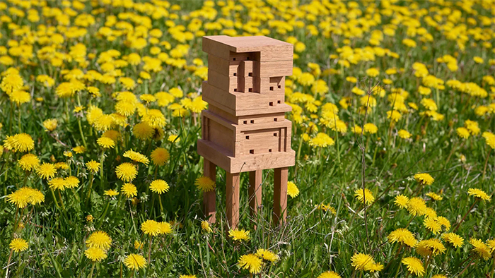 IKEA Encourages Everyone To Build Their Own Customizable Bee Home For Free
