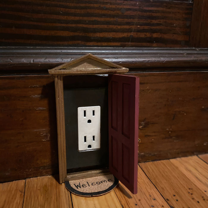 Woman Puts Dollhouse Doors As Electrical Outlet Covers Around Her Home Bored Panda