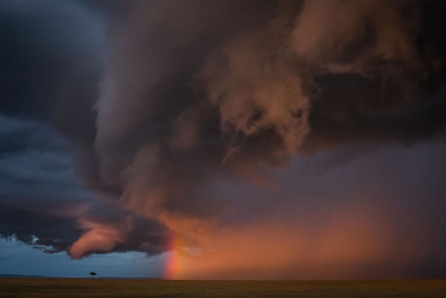 2nd Place, Landscapes. Masai Mara Sky By Jose Fragozo