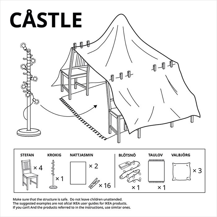 Ikea Instructions For Parents On How To Make Tents And Forts Indoors Art Sheep
