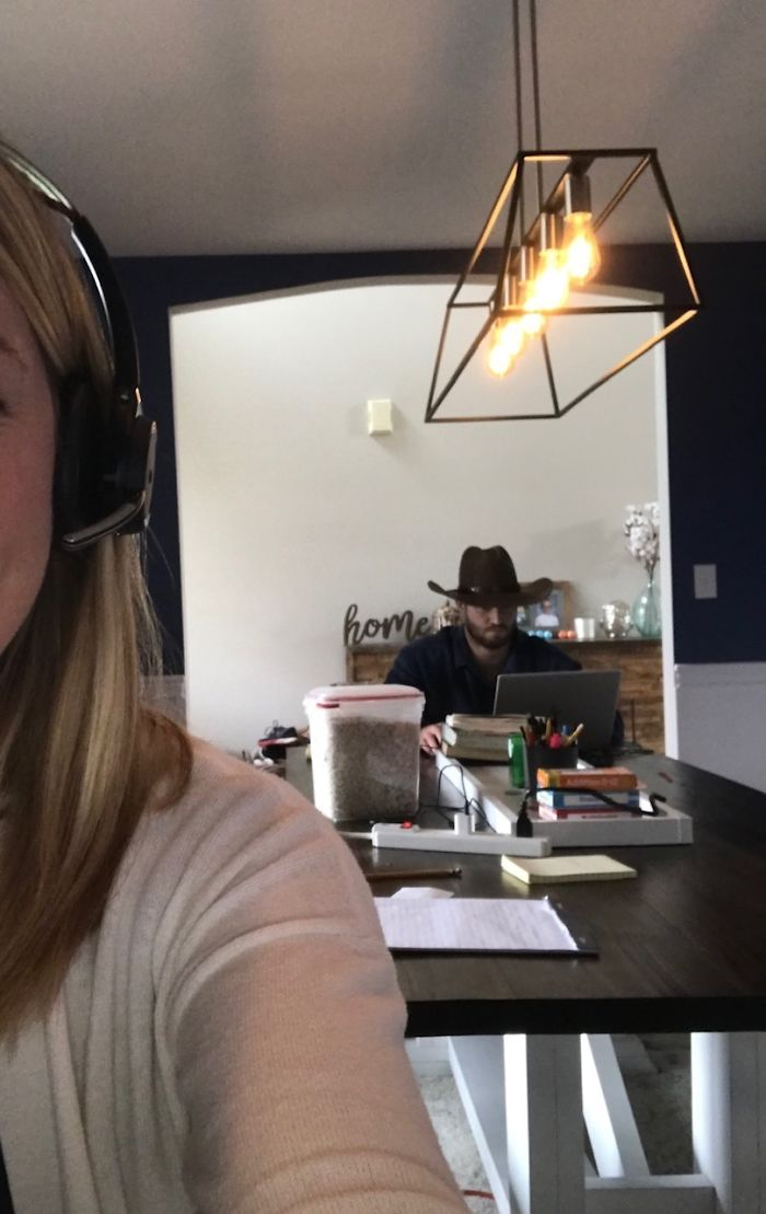 Man Continuously Tries To Embarrass His Wife During Her Zoom Calls By Hilariously Photobombing Them