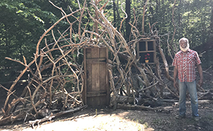 """Husbands Of 30 Years Create A Whimsical """"Doorway To Imagination"""" In Their Backyard"""