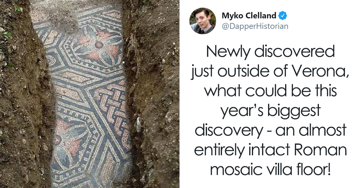 This Intact Roman Mosaic Floor Found Under A Vineyard In Italy Could Be The Greatest Discovery Of The Year