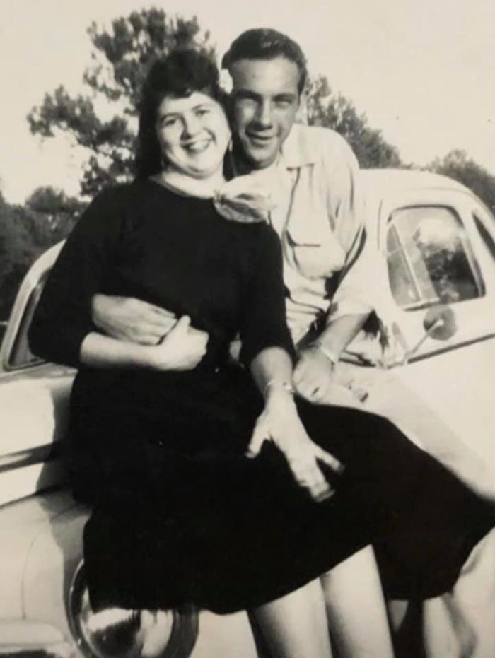 This Is My Grandmother In 1954 With Her Then Beau. Her First Love. She Was 17 Years Old