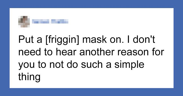 Person Mocks People For Listening To CDC's Advice On Masks, Gets Ridiculed In This Perfect Response
