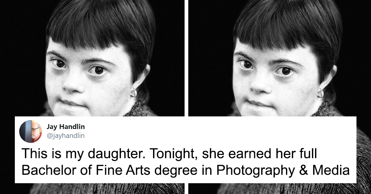 This Dad Couldn't Be Prouder Of His Daughter With Dawn Syndrome Who Just Graduated From College