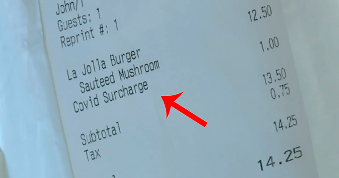 Turns Out, Some Restaurants Are Charging COVID Taxes After Re-Opening And It Boggles People