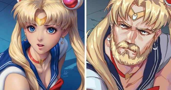 Artists All Over Twitter Are Redrawing Sailor Moon In Their Own Style (30 Pics)