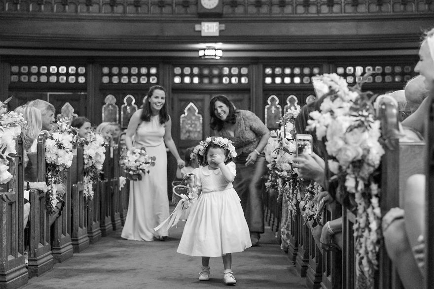 This Flower Girl Who Would Rather Be Going