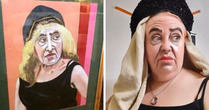 96 People Recreate Paintings From Terrible Art In Charity Shops Facebook Group