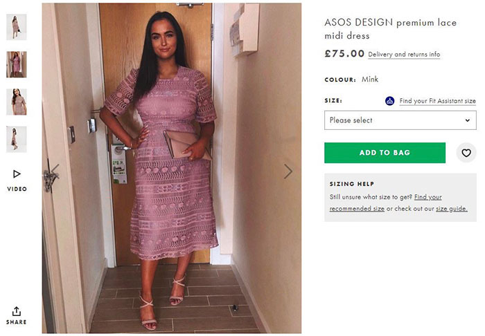 After This Woman Got Mocked On Tinder For Wearing Her Dress, ASOS Puts Her Pic On Its Site