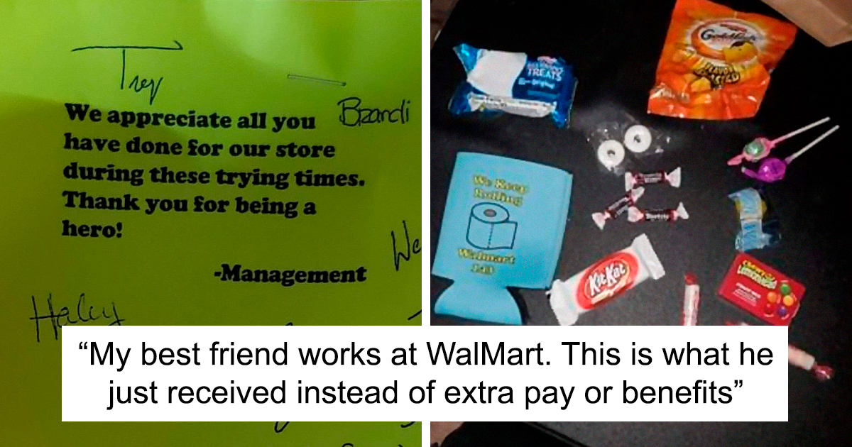 Someone Posts Photos Of The Extra 'Pay' Their Friend Got Working At Walmart, Starts A Discussion On Twitter