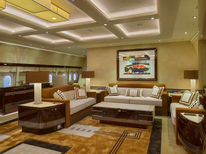 Check Out The Inside Of The World's Largest Private Jet That Looks Like A Flying Mansion (25 Pics)