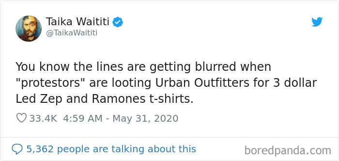 """Taika Waititi Was Criticized For His Tweet About """"Protesters"""" Looting"""