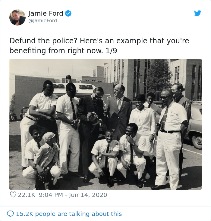 Twitter User Explains How Defunding The Police Turned Out To Be A Good Idea In The Past