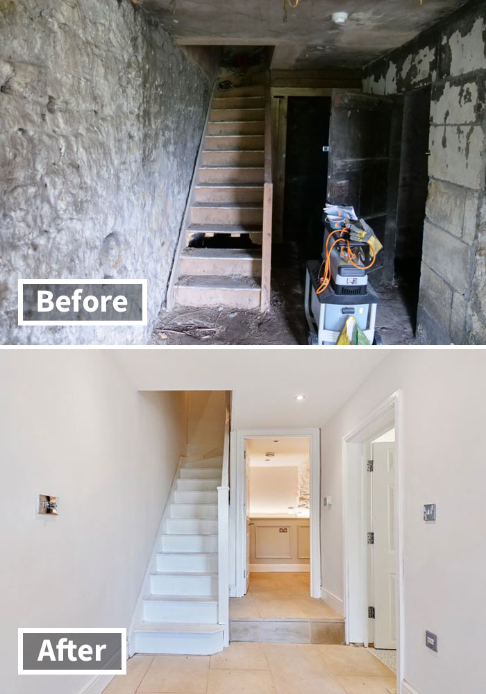 Here Are The Before And After Photos Of A Creepy 'Dungeon' That Was Turned Into A Lush $592,000 Apartment