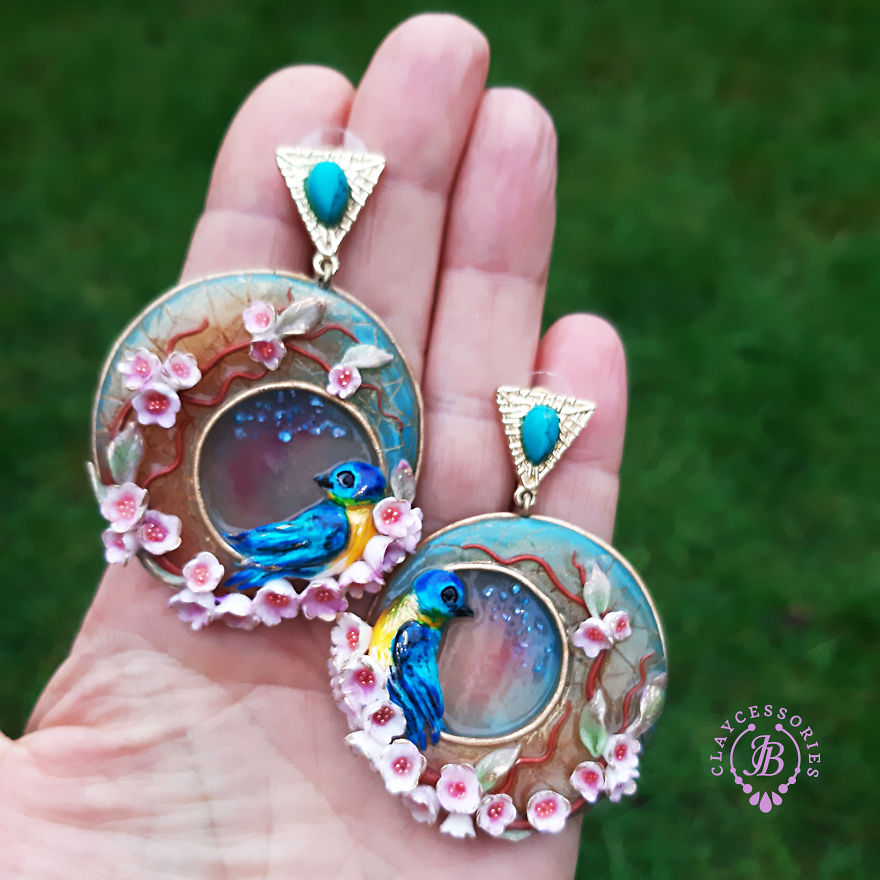 My One Of A Kind Earrings From Polymer Clay
