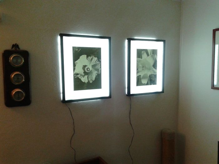 I Built These Reverse-Illuminated Pictures To Light Up My Dim Hallway