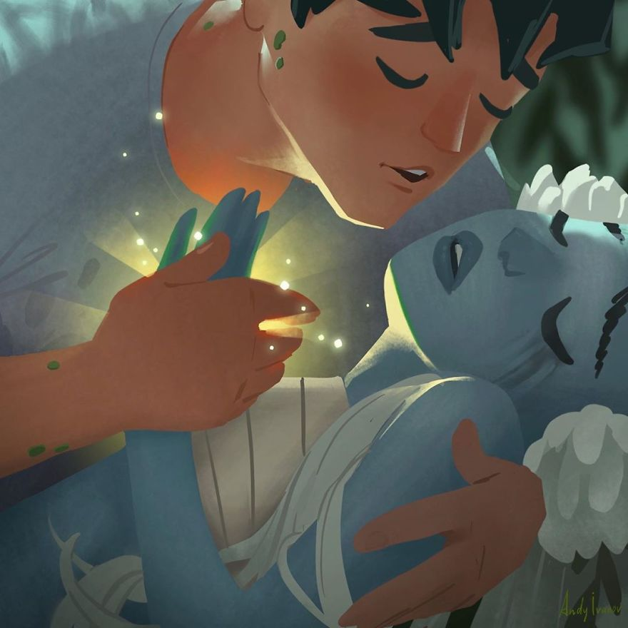 Artist Shares The Sequel Of The Green Mermaid Story That Hit People In The Feels