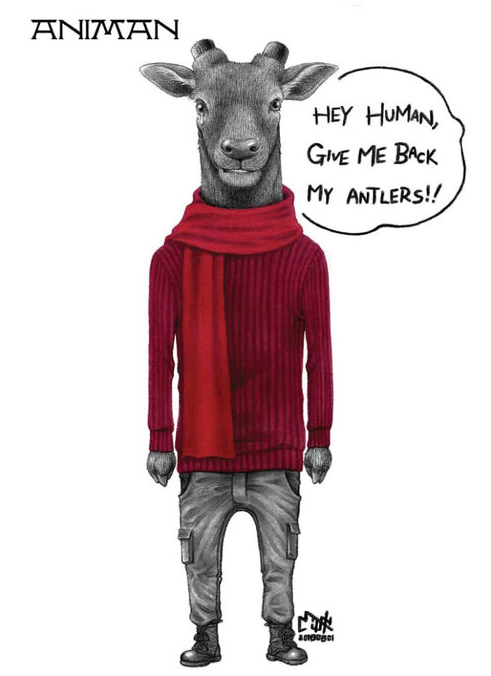 Artist Shows Shocking Illustrations About Animal Abuse That Many Humans Will Surely Be Ashamed Of