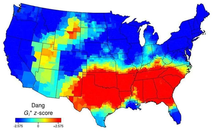 """Use Of The Word """"Dang"""" Across The Continental US"""