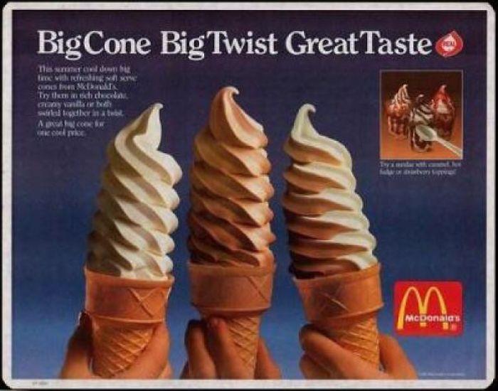 Mcdonald's Twist Cones