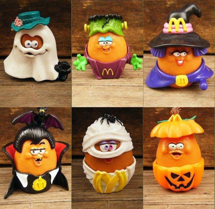 These Mcdonalds Halloween Chicken Nugget Toys