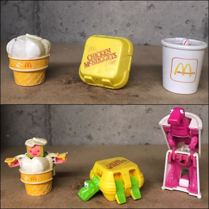 Mcdonald's Happy-Meal Transformers. When Mcdonald's Was Considered A Treat. Thanks Mom!