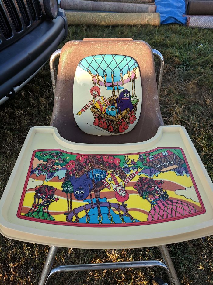 Check Out This Awesome McDonald's High Chair I Got At The Flea Market Today