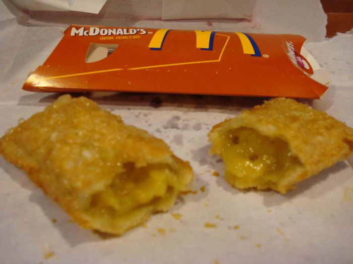 Mcdonalds Fried Apple Pies With The Bubbly, Crispy Outside